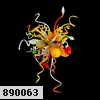 890063 (BS-B063H) Бра VULCANO LED 3x1W Multi-color